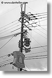 asia, japan, lawson, poles, vertical, wires, photograph