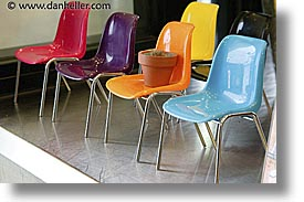 asia, chairs, horizontal, japan, plastic, photograph