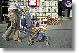 asia, babies, babies toddlers, horizontal, japan, people, stroller, toddlers, photograph