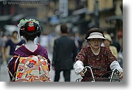 asia, geisha, horizontal, japan, old, people, womens, photograph