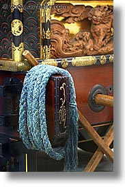 asia, blues, festival floats, japan, ropes, takayama, vertical, photograph