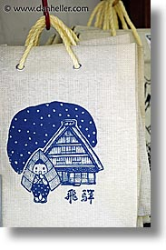asia, fabrics, japan, little things, takayama, totebag, vertical, photograph