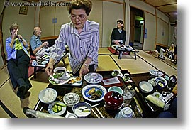 asia, fisheye lens, foods, horizontal, japan, nagase, serving, takayama, photograph