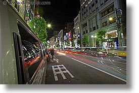 asia, cityscapes, horizontal, japan, long exposure, nite, roppongi, streets, tokyo, photograph