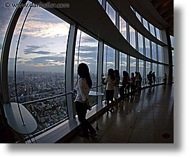 aerials, asia, cityscapes, dusk, fisheye lens, horizontal, japan, nite, people, tokyo, photograph