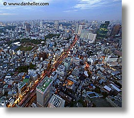 aerials, asia, cityscapes, horizontal, japan, nite, slow exposure, tokyo, photograph