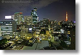 asia, cityscapes, horizontal, japan, nite, slow exposure, tokyo, photograph