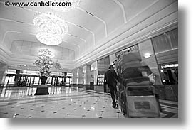 asia, black and white, cityscapes, horizontal, japan, kanto, keio, lobby, plaza, tokyo, photograph