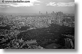asia, black and white, cityscapes, horizontal, japan, tokyo, photograph
