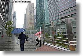 asia, cities, cityscapes, horizontal, japan, tokyo, umbrellas, walking, photograph