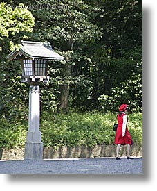 asia, girls, japan, kanto, meiji shrine, red, tokyo, vertical, photograph