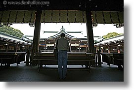 asia, horizontal, japan, japanese, kanto, meiji shrine, praying, tokyo, photograph
