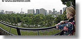asia, cityscapes, fisheye lens, horizontal, japan, jills, kanto, panoramic, royal palace gardens, tokyo, photograph