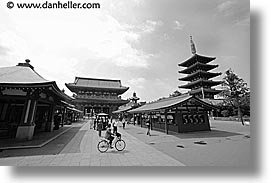 asia, bicycles, horizontal, japan, kanto, sensoji temple, shrine, tokyo, photograph