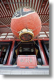 asia, japan, kanto, lanterns, paper, sensoji temple, slow exposure, tokyo, vertical, photograph