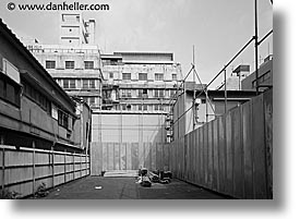 alleys, asia, black and white, empty, horizontal, japan, kanto, streets, tokyo, photograph