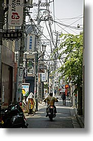 asia, japan, kanto, motorcycles, streets, tokyo, vertical, wires, photograph