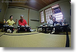 asia, dining, fisheye lens, groups, horizontal, japan, japanese, tour group, photograph