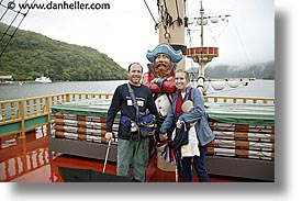 asia, dans, horizontal, japan, jills, pirates, tour group, photograph