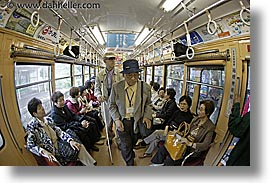 asia, fisheye lens, guides, horizontal, japan, per, per berthelsen, tour group, trains, photograph