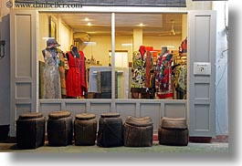 asia, baskets, buildings, horizontal, laos, luang prabang, stores, photograph