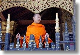 asia, buddhist, buildings, gates, horizontal, laos, luang prabang, monks, religious, temples, xiethong, photograph