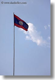 asia, flags, laos, luang prabang, vertical, photograph