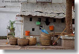asia, baskets, horizontal, laos, luang prabang, wicker, photograph