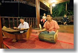 asia, asian, dance, horizontal, instruments, laos, luang prabang, music, musicians, people, xylophone, photograph