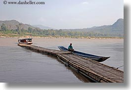 asia, canoes, horizontal, laos, luang prabang, men, rivers, scenics, photograph