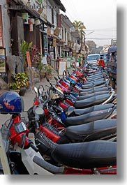 asia, bikes, laos, luang prabang, motorcycles, parked, transportation, vertical, photograph