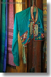 asia, fabrics, laos, luang prabang, silk, vertical, weaving village, photograph