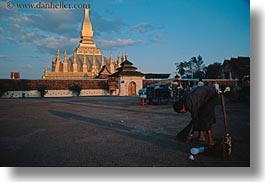 asia, horizontal, laos, palace, streets, vientiane, womens, photograph