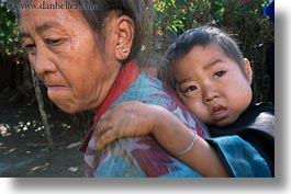 asia, asian, childrens, grandmother, hmong, horizontal, laos, people, poverty, senior citizen, villages, photograph