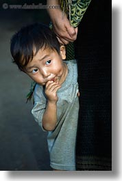 asia, asian, boys, hmong, laos, people, poverty, vertical, villages, photograph