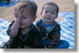 asia, asian, boys, hmong, horizontal, laos, people, poverty, villages, photograph