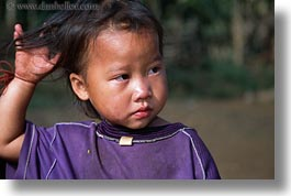asia, asian, girls, hmong, horizontal, laos, people, poverty, villages, photograph