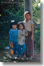 asia, asian, girls, hmong, laos, people, poverty, vertical, villages, photograph