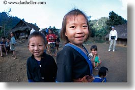 asia, asian, emotions, girls, hmong, horizontal, laos, people, poverty, smiles, villages, photograph
