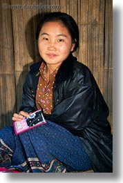 asia, asian, hmong, laos, people, vertical, villages, womens, photograph
