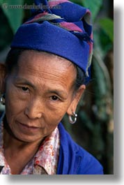 asia, asian, emotions, hmong, laos, people, poverty, senior citizen, serious, vertical, villages, womens, photograph