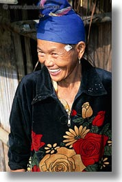 asia, asian, emotions, fabrics, flowers, hmong, laos, materials, nature, people, poverty, senior citizen, smiles, vertical, villages, womens, photograph