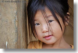 asia, asian, black, childrens, girls, haired, hmong, horizontal, laos, people, villages, photograph