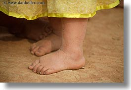asia, childrens, dirty, feet, hmong, horizontal, laos, toddlers, villages, photograph