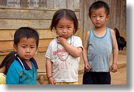 asia, asian, boys, childrens, girls, hmong, horizontal, laos, people, toddlers, villages, photograph