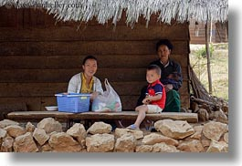 asia, asian, childrens, grandmother, hmong, horizontal, laos, mothers, people, villages, photograph