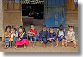 asia, asian, childrens, hmong, horizontal, laos, people, school, villages, photograph