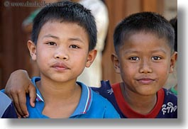 asia, asian, boys, horizontal, laos, people, river village, villages, photograph