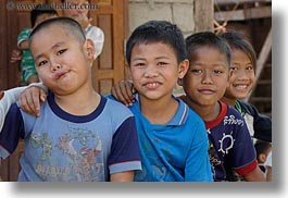 asia, asian, boys, emotions, horizontal, laos, people, river village, smiles, villages, photograph