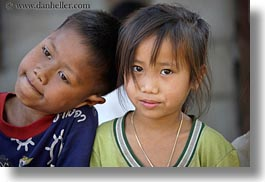 asia, asian, boys, girls, groups, horizontal, laos, people, river village, villages, photograph